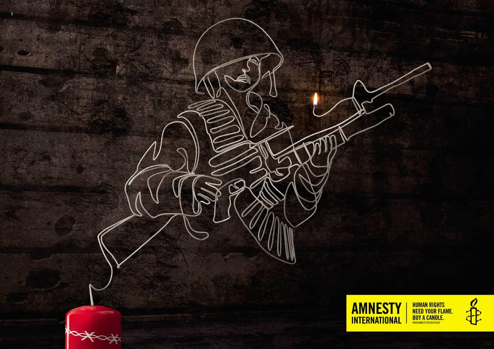 amnesty international une bougie pour la paix. Black Bedroom Furniture Sets. Home Design Ideas