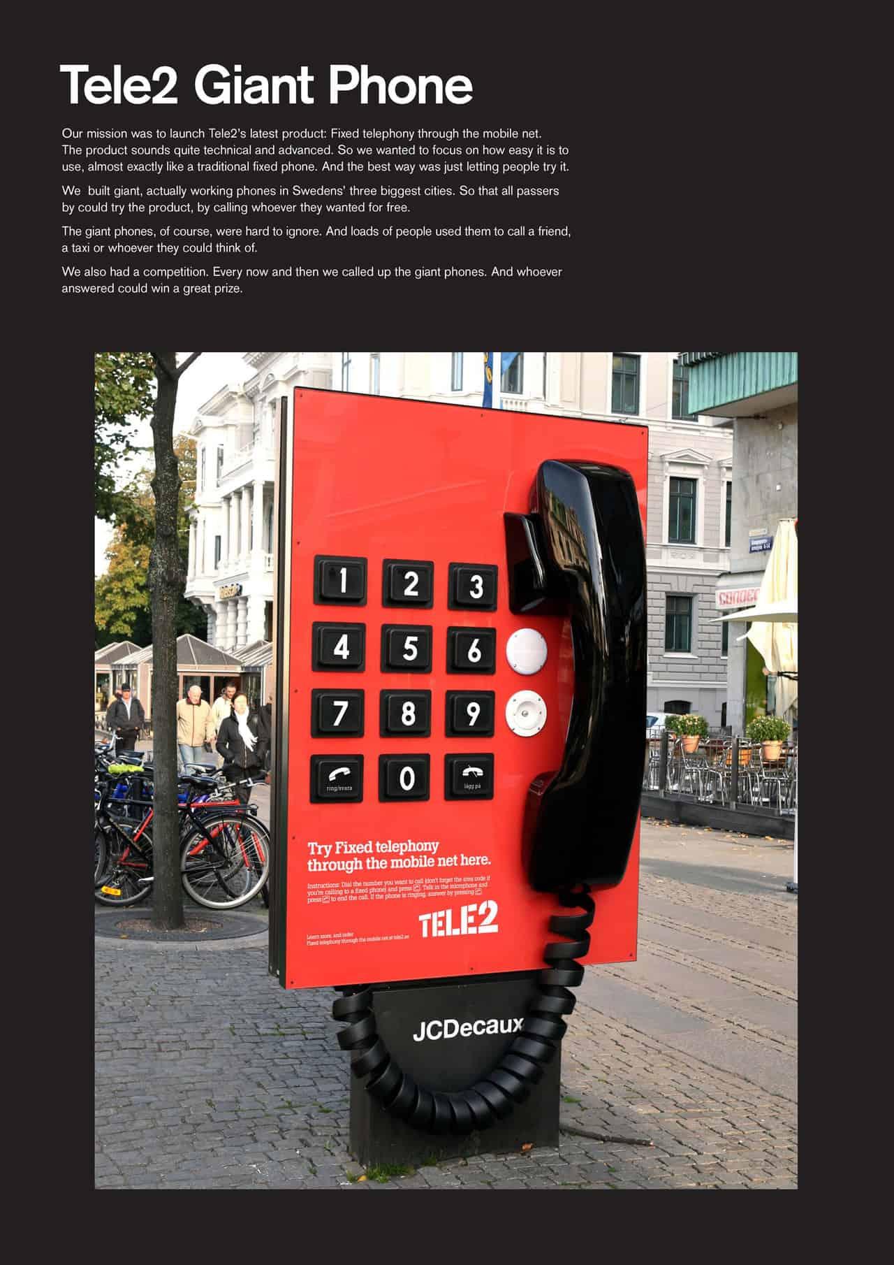 Tele2 téléphone géant