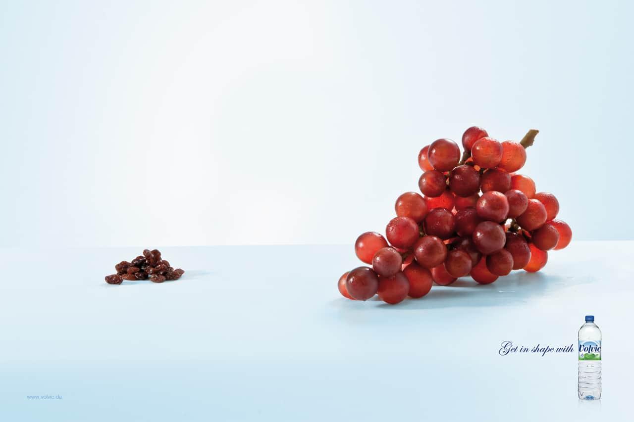 Volvic : raisins secs
