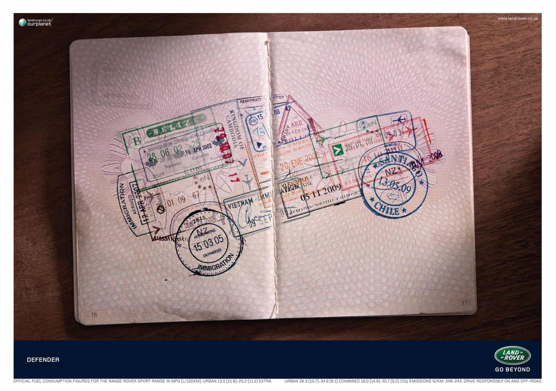 Land Rover Defender : Passeport