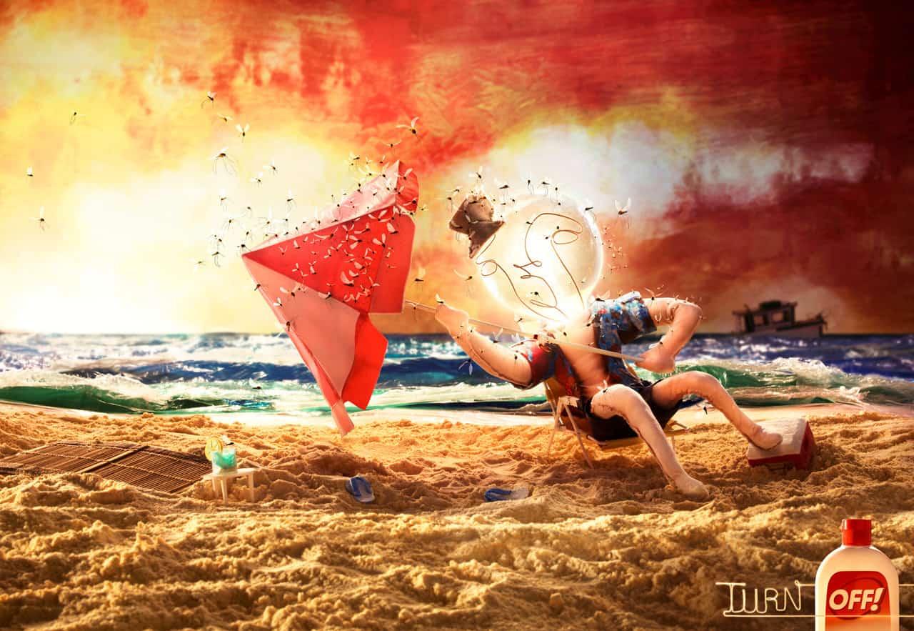 OFF! : Ampoule sur la plage