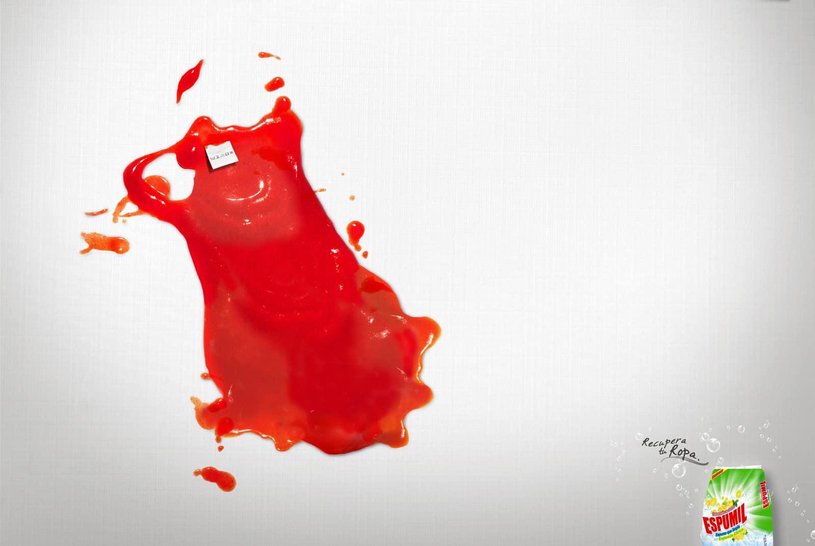Espumil : tache Ketchup