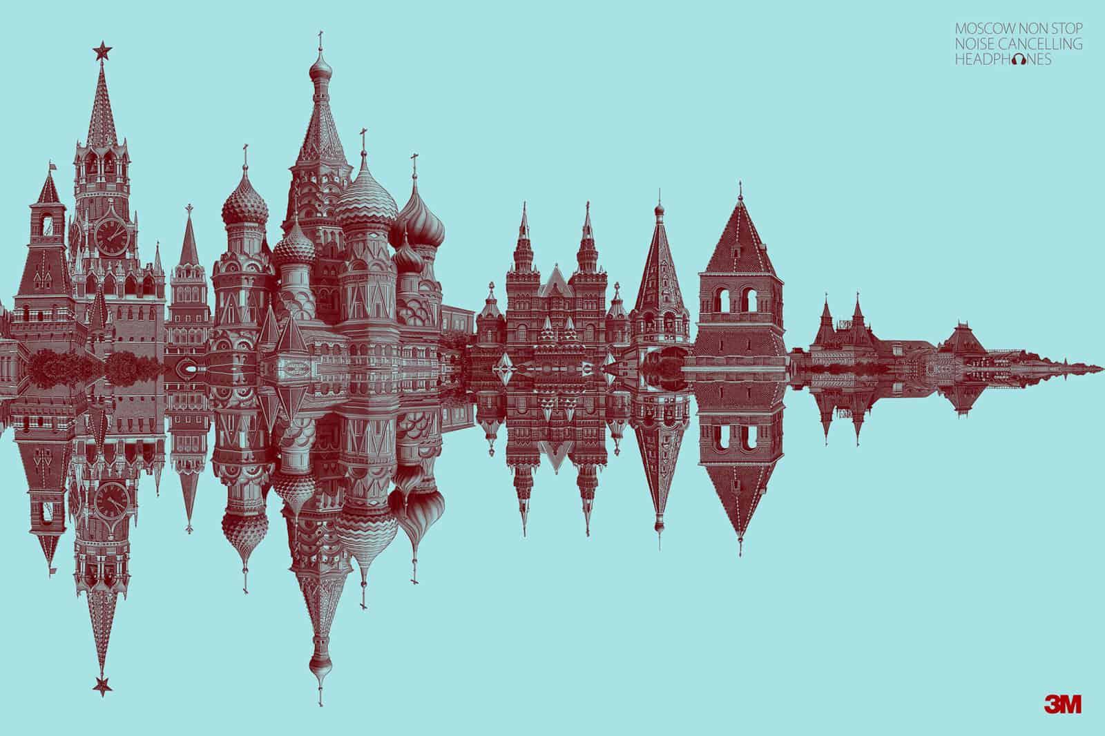Pub casque antibruit 3M : Moscou