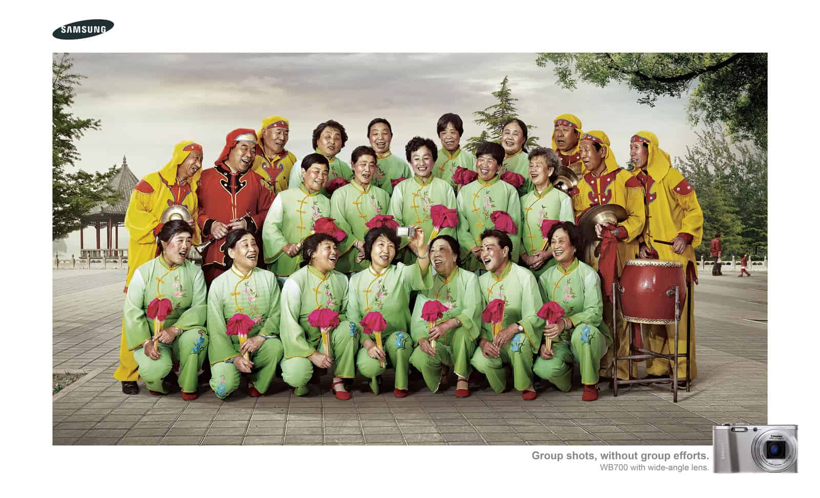 Pub Samsung : photo de groupe