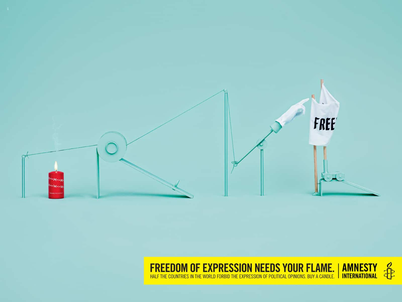 Pub Amnesty International : Liberté d'expression