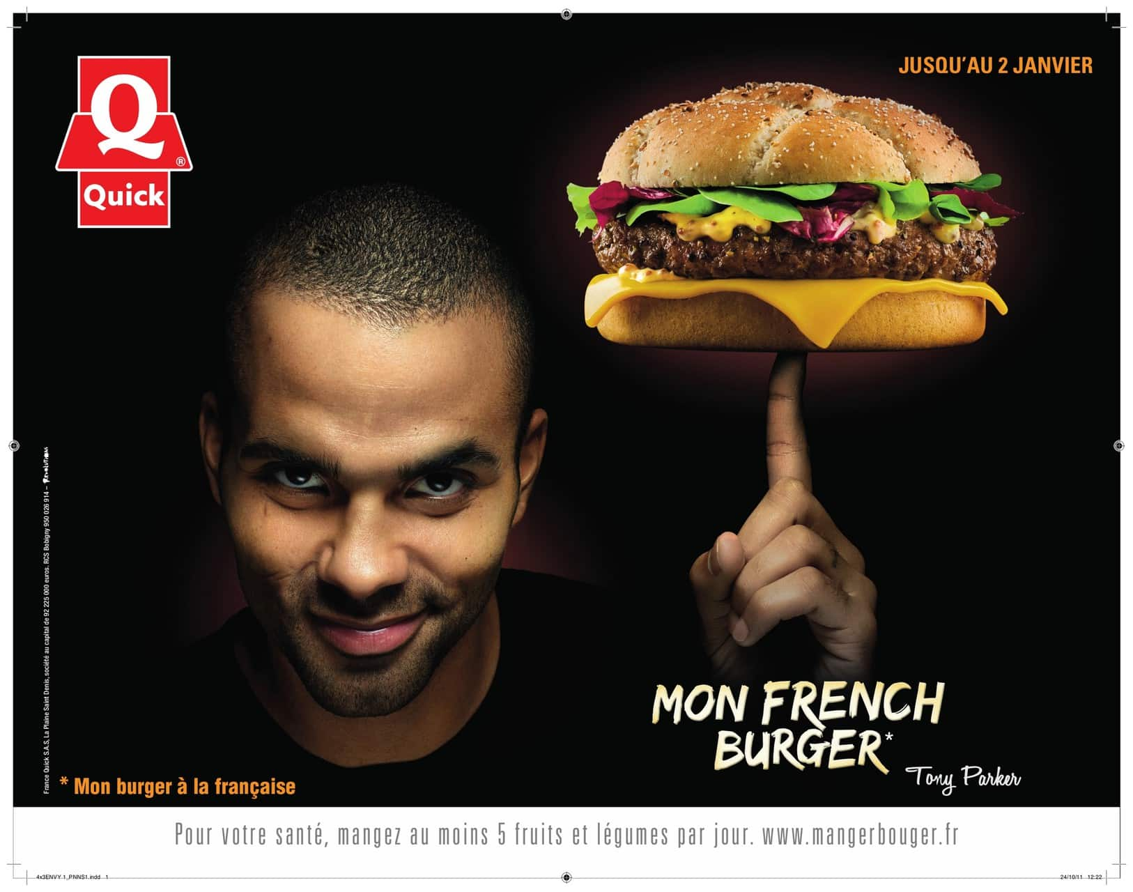 Pub Quick : Tony Parker