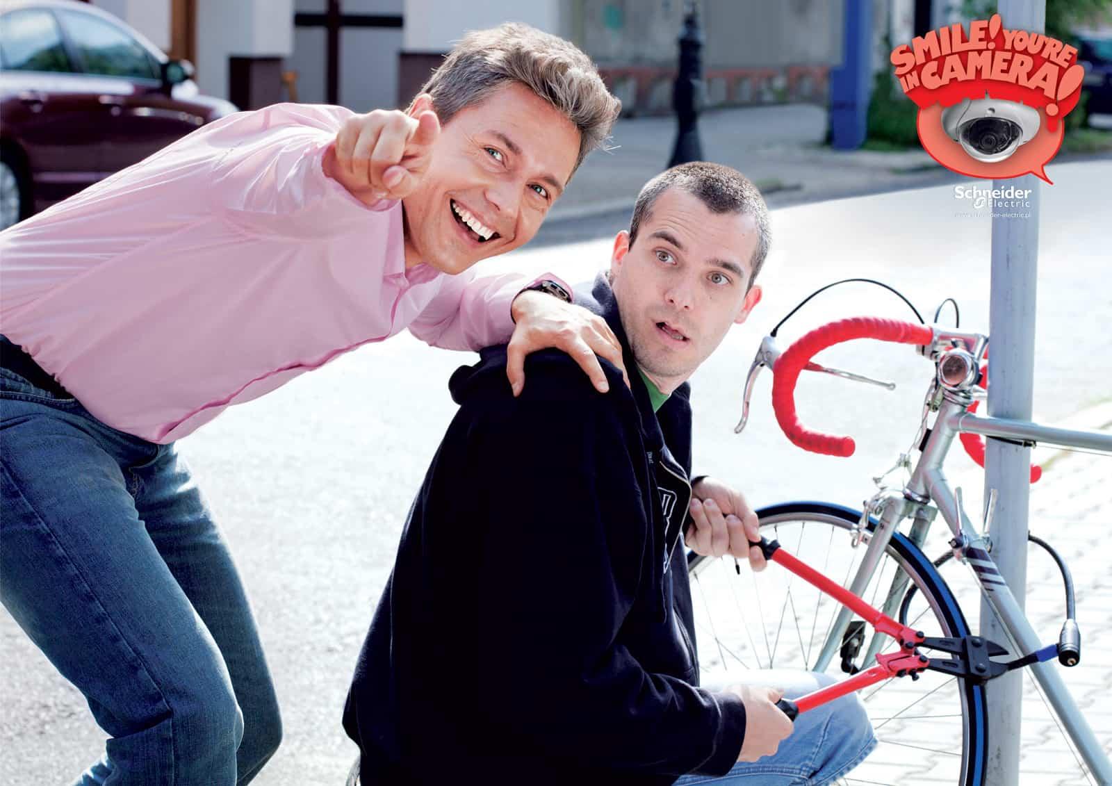 Pub Schneider Electric : vélo