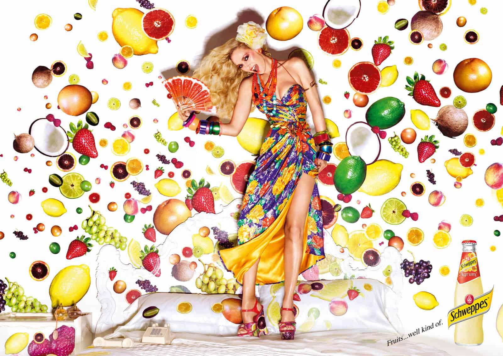 Pub Schweppes : fruits