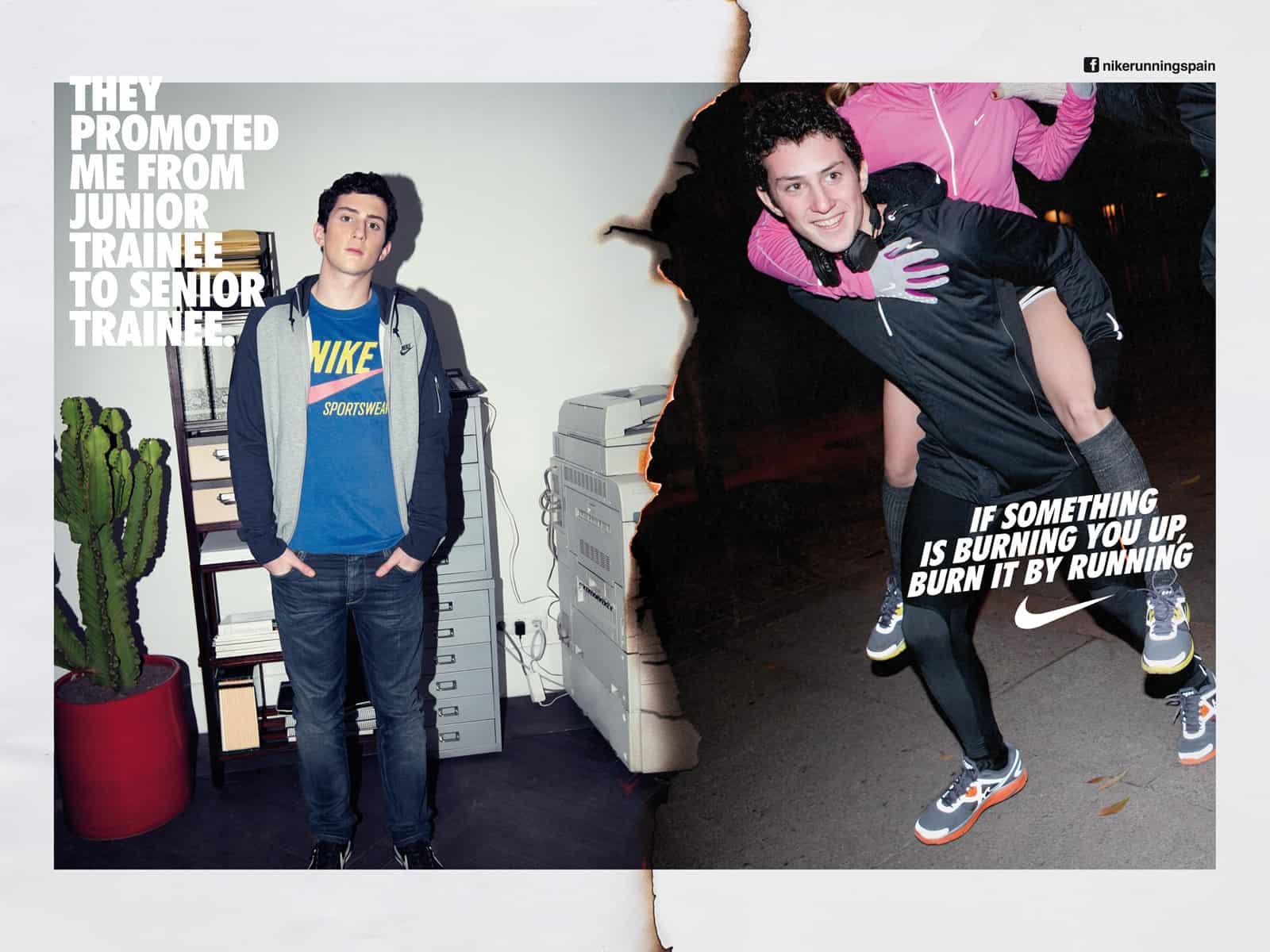Pub Nike : courir