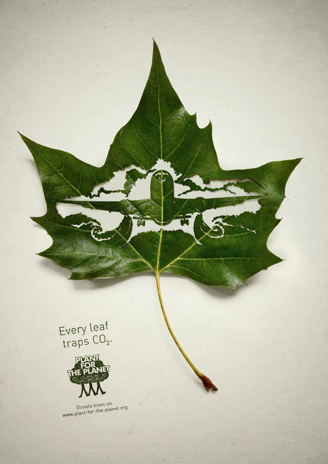 Pub Plant for the Planet : avion