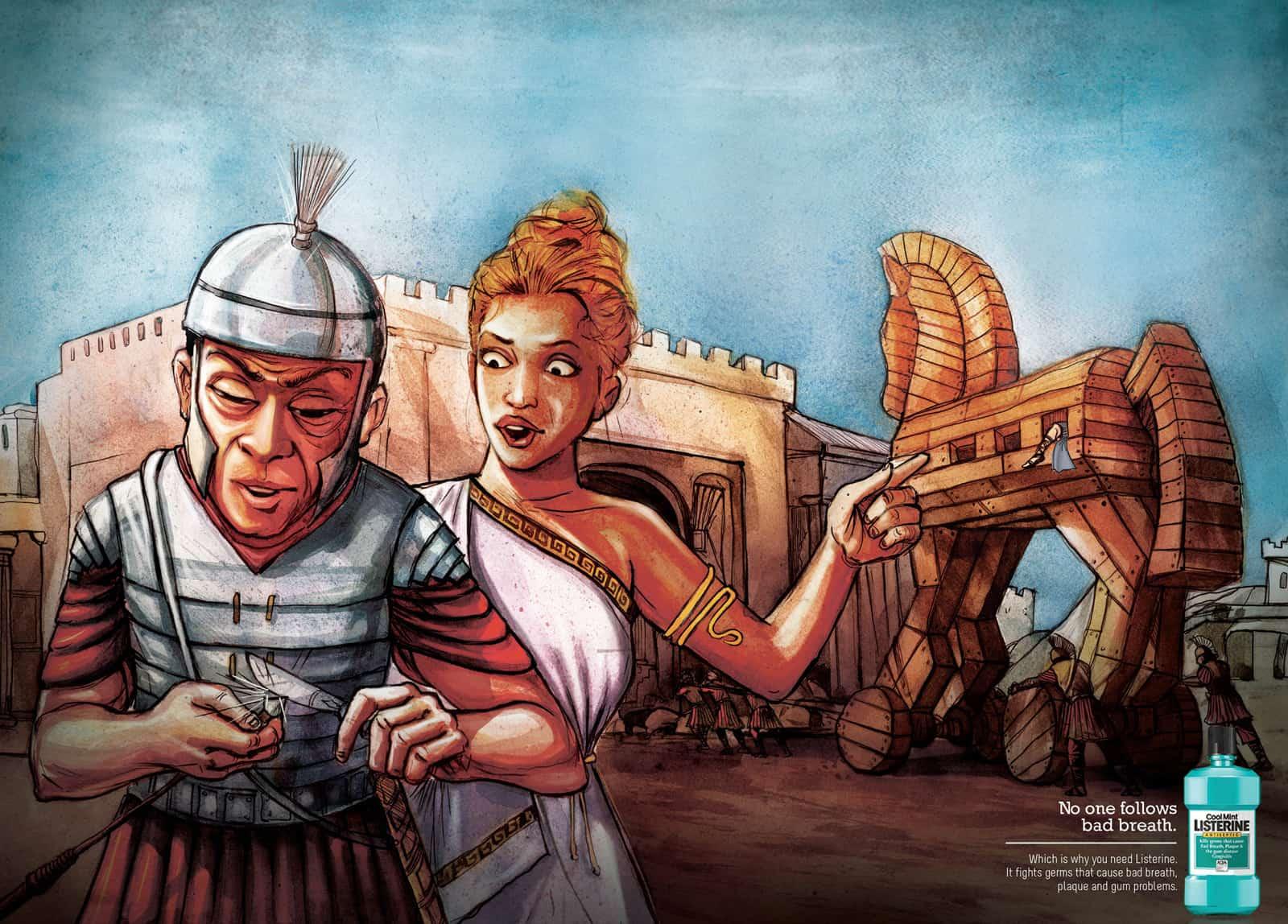 Pub Listerine : Troie