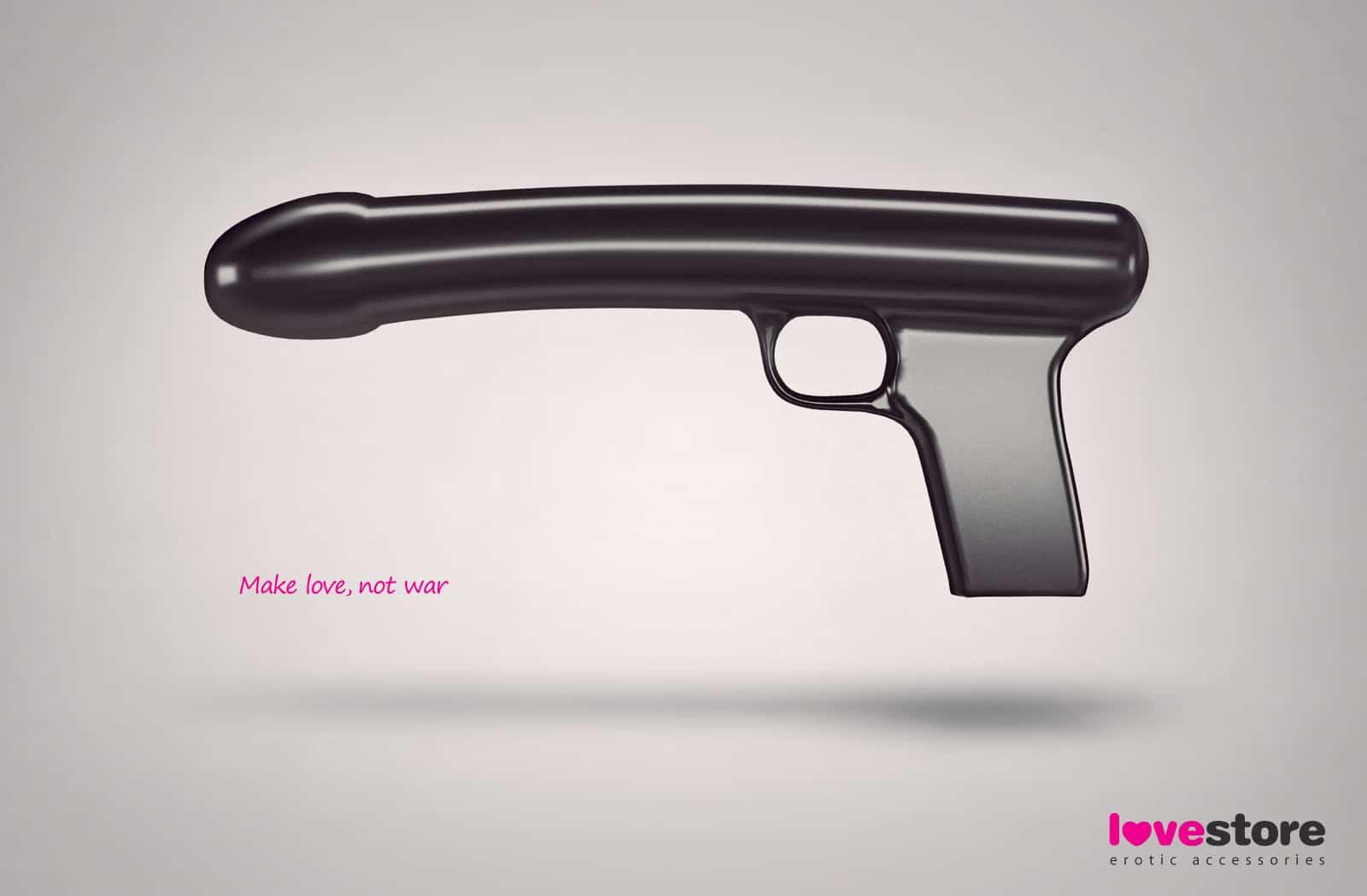 Pub Lovestore : pistolet