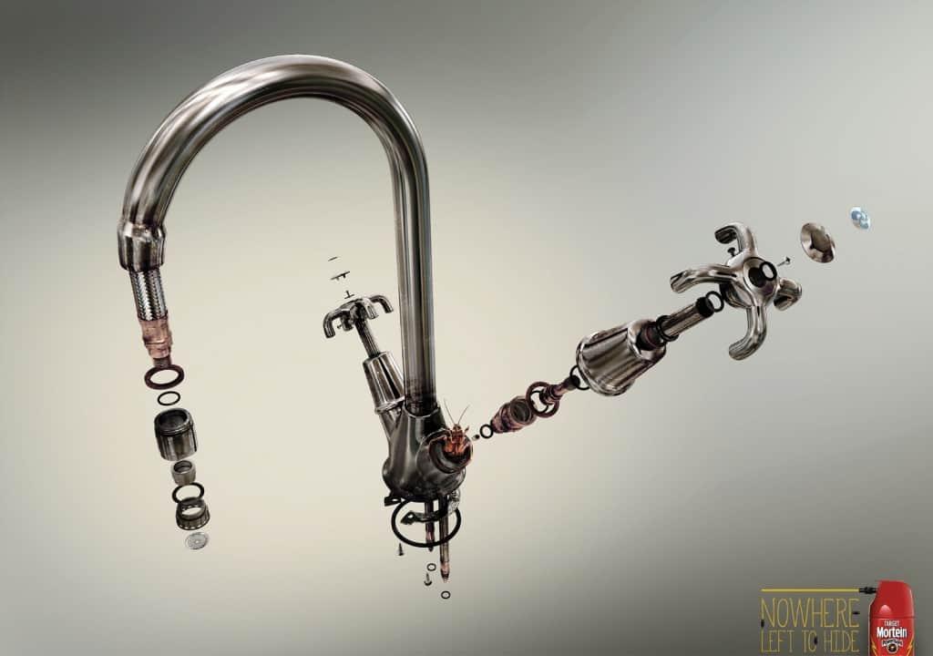 Pub Target Mortein : robinet
