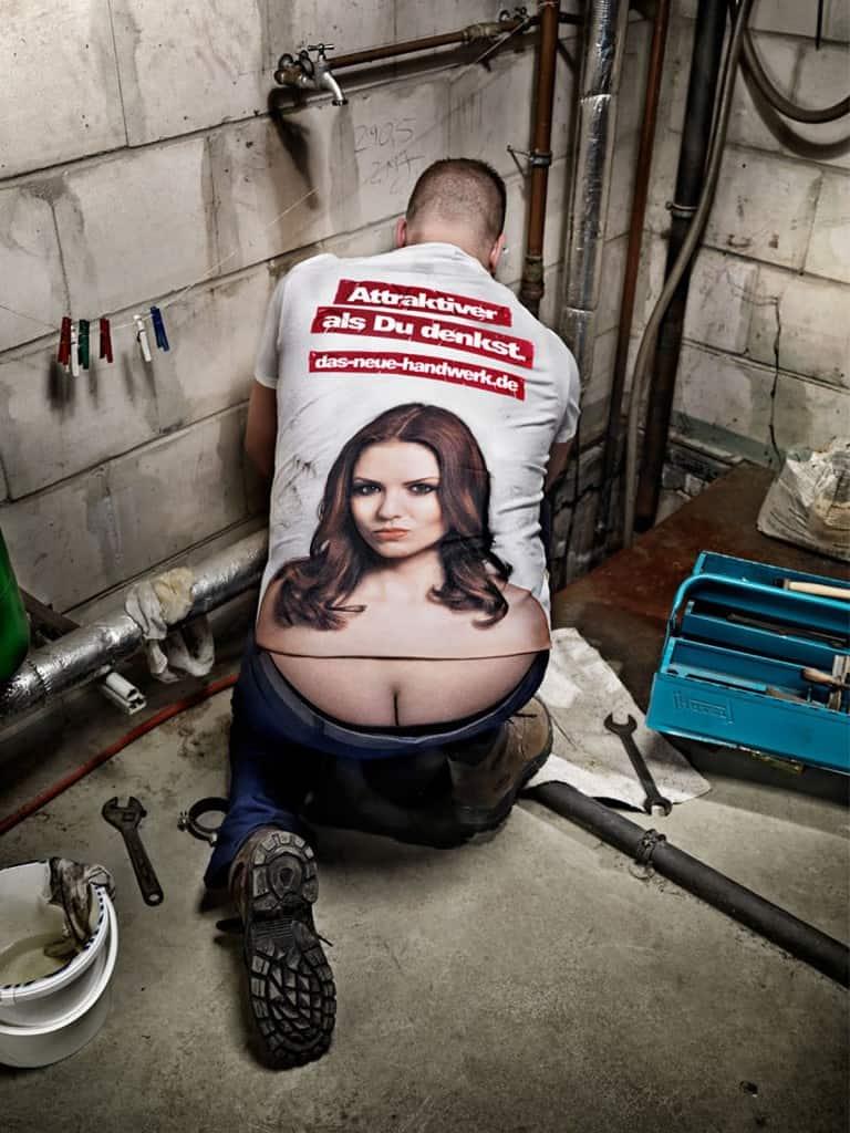 Pub artisanat  Allemagne : plombier