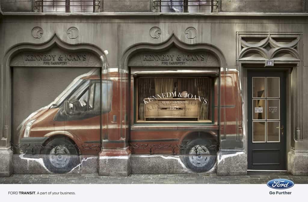 Pub Ford Transit : magasin