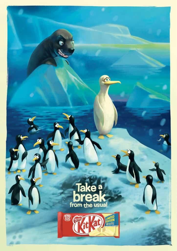 Pub Kit-Kat : pinguin