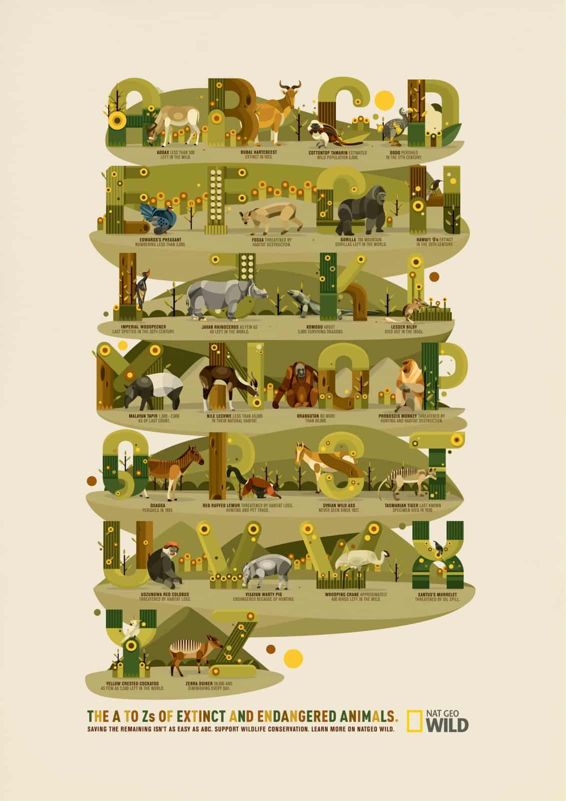 Pub National Geographic : alphabet