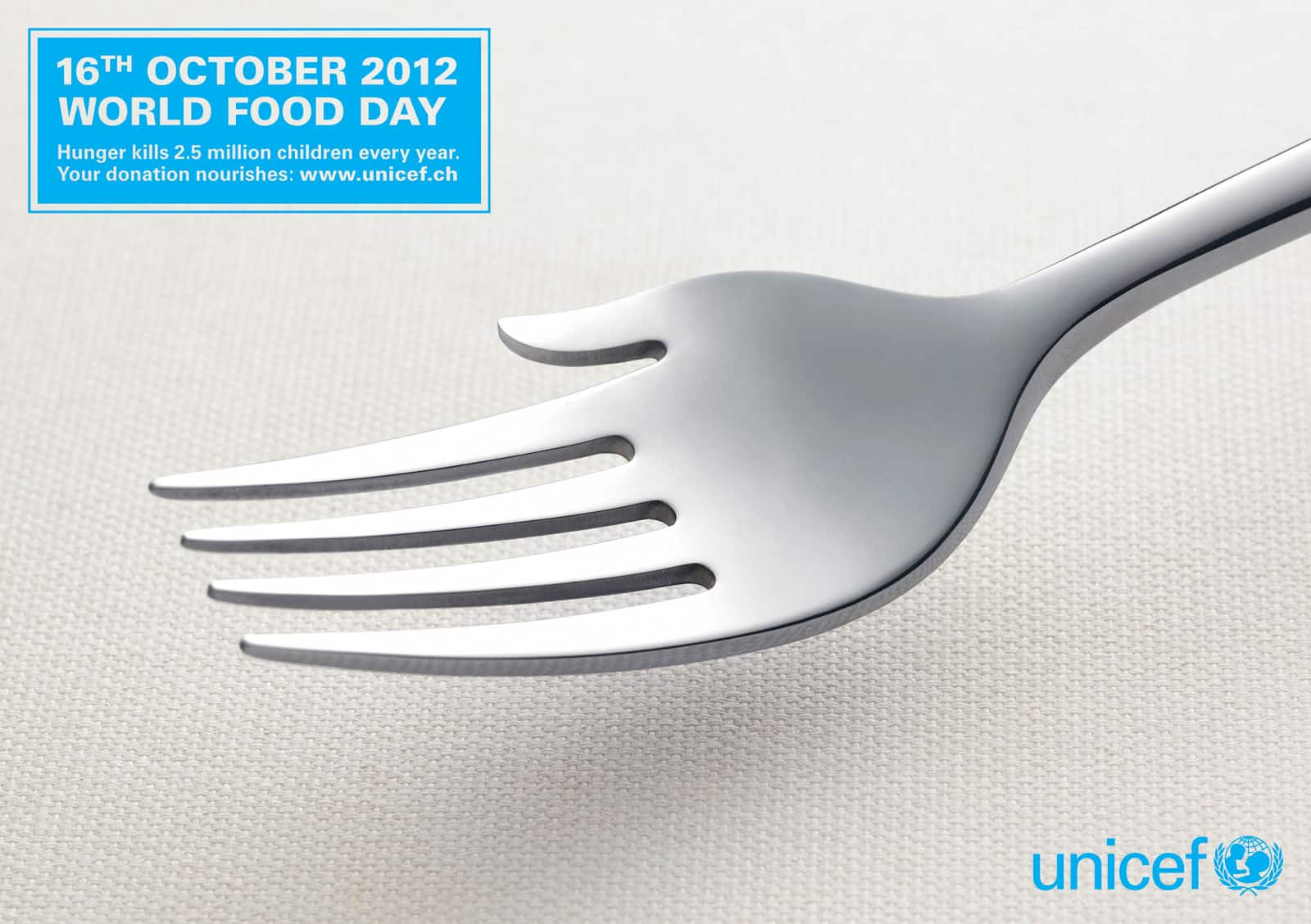 Pub Unicef fourchette