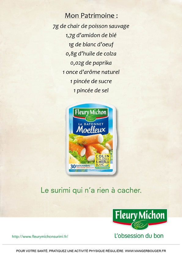 pub Fleury Michon : Surimi