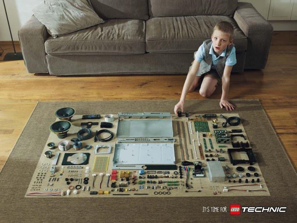 Pub Lego Technic : Lecteur DVD