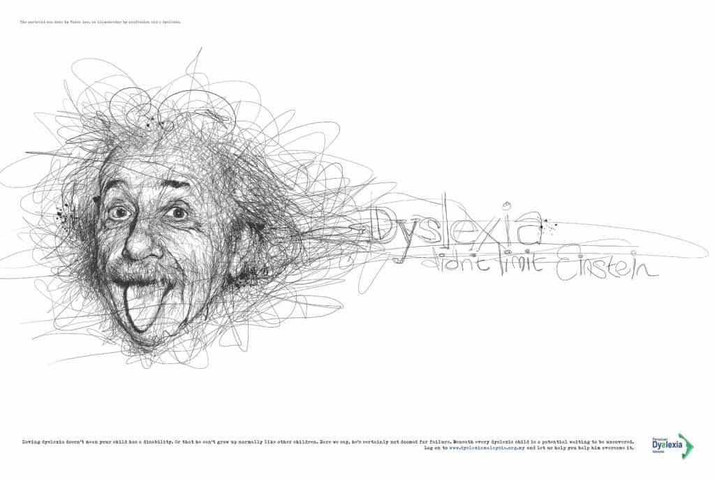 Pub Dyslexie : Einstein