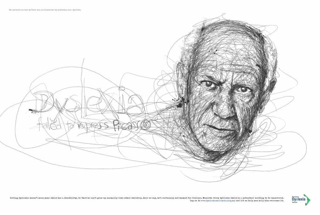 Pub Dyslexie : Picasso