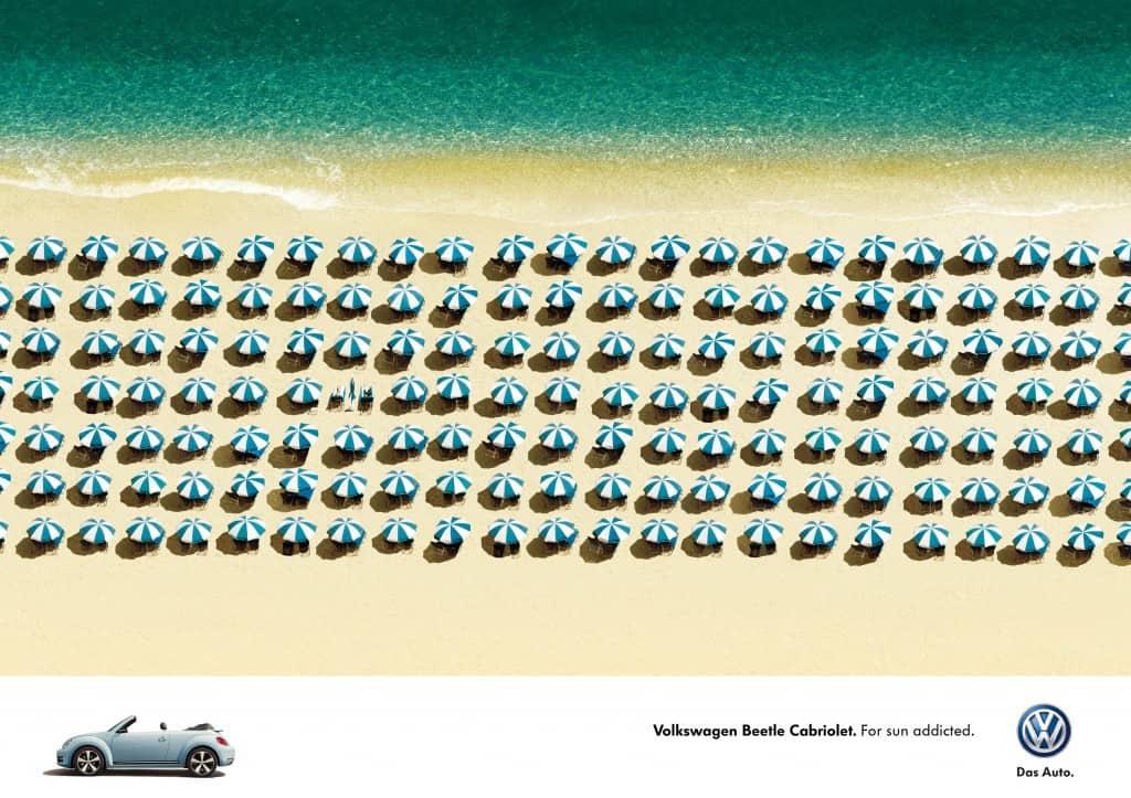 Pub Volkswagen : soleil