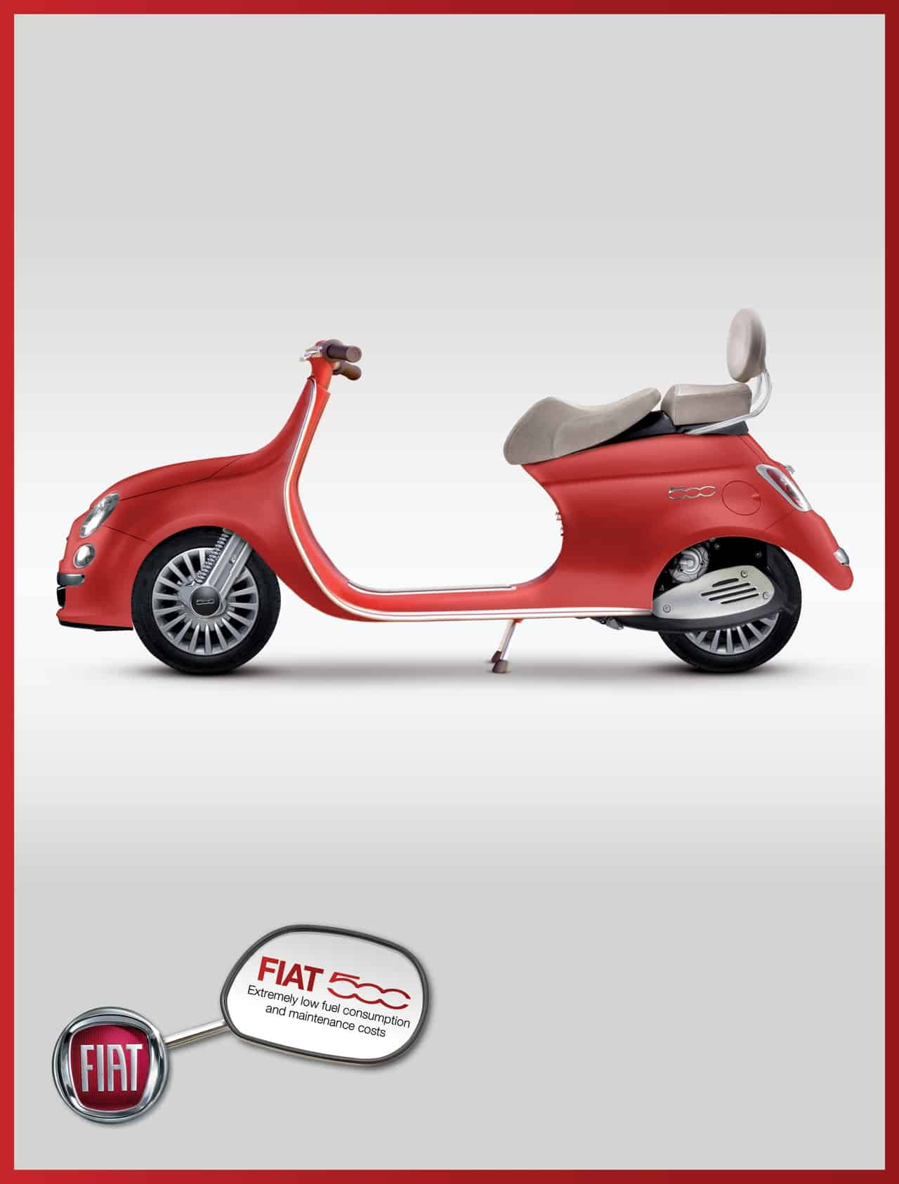 pub fiat le scooter 500. Black Bedroom Furniture Sets. Home Design Ideas
