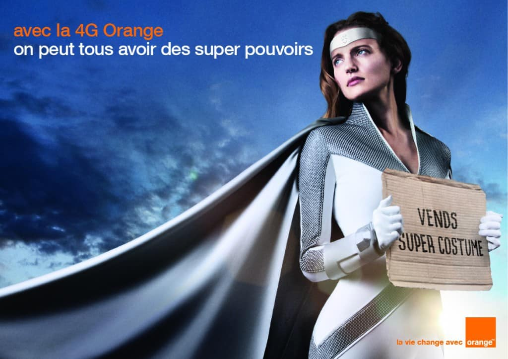 Affiche Orange Superwoman