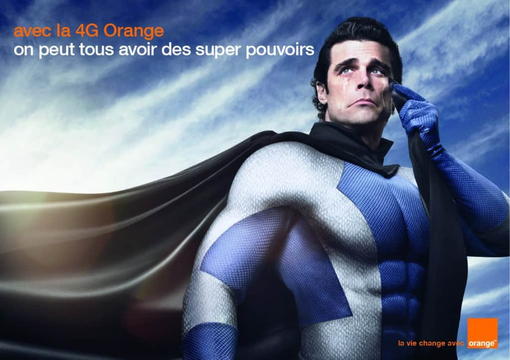 Affiche Orange Superman