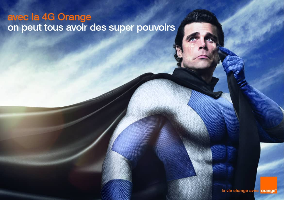 Pub Orange Super-héros