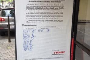 L'Equipe : Une signature pour soutenir l'équipe de France